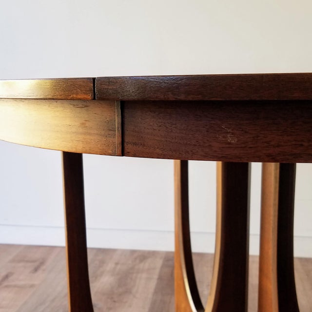 Wood 1960s Broyhill Brasilia Round Dining Table For Sale - Image 7 of 13