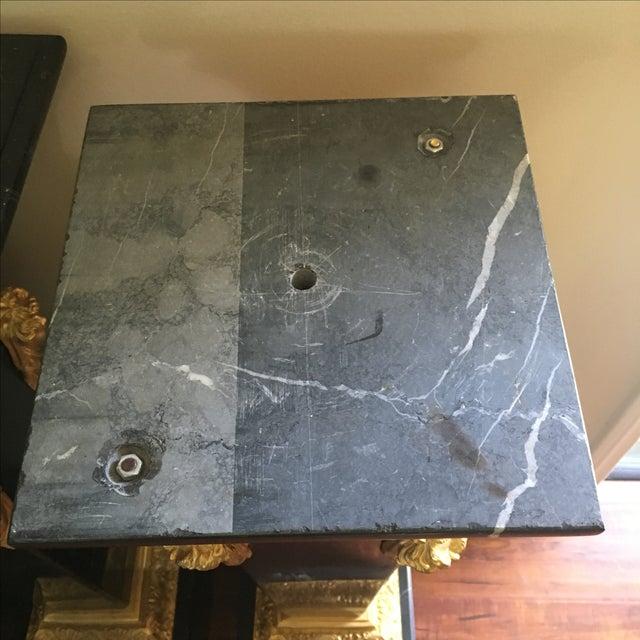 Ormolu-Mounted Black Marble Pedestals - Pair - Image 11 of 11