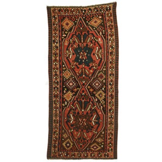 RugsinDallas Antique Hand Knotted Wool Persian Kilim Rug - 5′6″ × 12′4″ For Sale