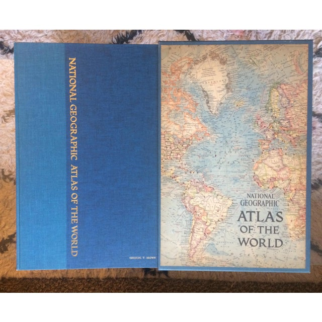 Lights 1963 National Geographic Atlas of the World First Edition Book For Sale - Image 7 of 12