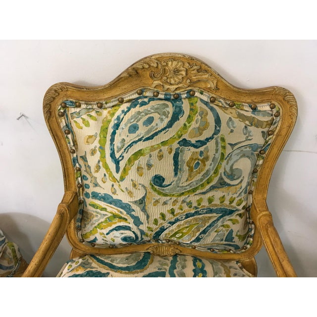 Pair of French Style Chairs For Sale - Image 9 of 9