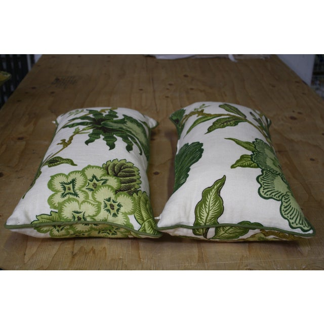 Traditional Celerie Kemble Green Lumbar Pillows - A Pair For Sale - Image 3 of 4