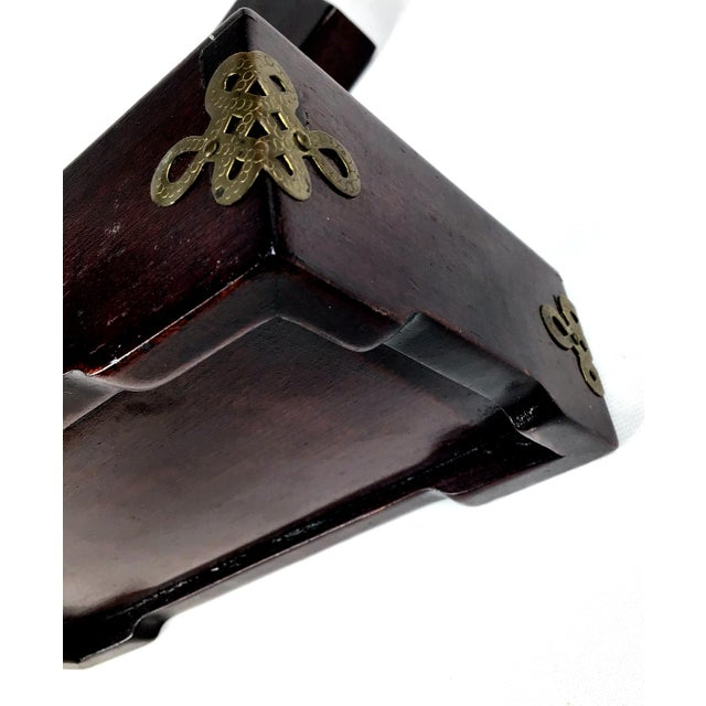 1920s Chinese Jade & Rosewood Cigarette Box For Sale - Image 10 of 13