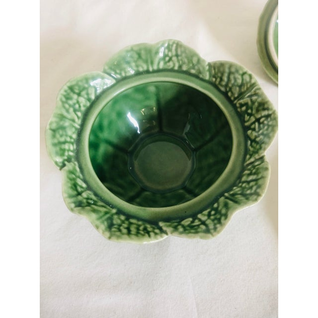 Bordallo Pinherio Condiment Bowl With Under Plate For Sale - Image 9 of 11