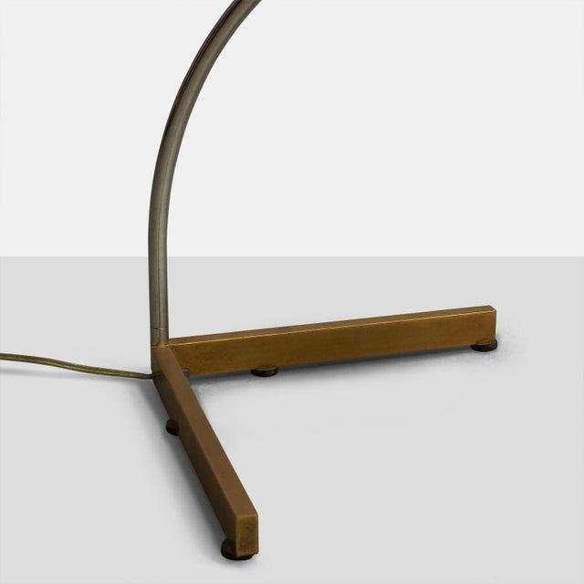 Mid-Century Modern Cedric Hartman arced table lamp For Sale - Image 3 of 5