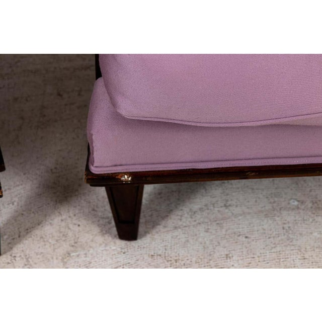 1940s Vintage Jules Leleu Attributed Armchairs - a Pair For Sale - Image 10 of 11