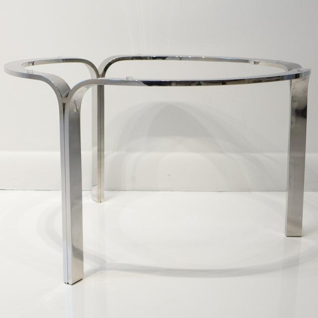 Nicos Zographos Ribbon Steel Cocktail Table For Sale In New York - Image 6 of 9