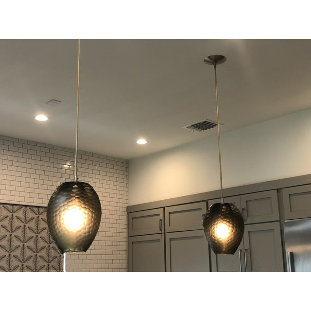 Etching Dwight Pendant Light by Ateriors Home For Sale - Image 7 of 8
