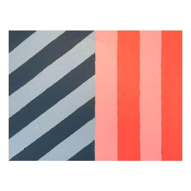 """Contemporary 2020 Donald Florence Abstract """"Half/Half"""" Acrylic Painting For Sale - Image 3 of 3"""