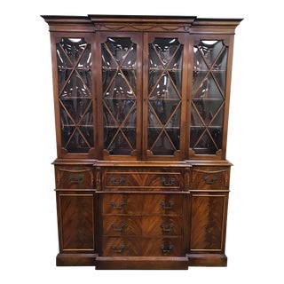 Saginaw Furniture Mahogany China Cabinet