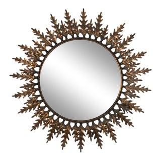 Spanish Copper-Plated Sunburst Mirror