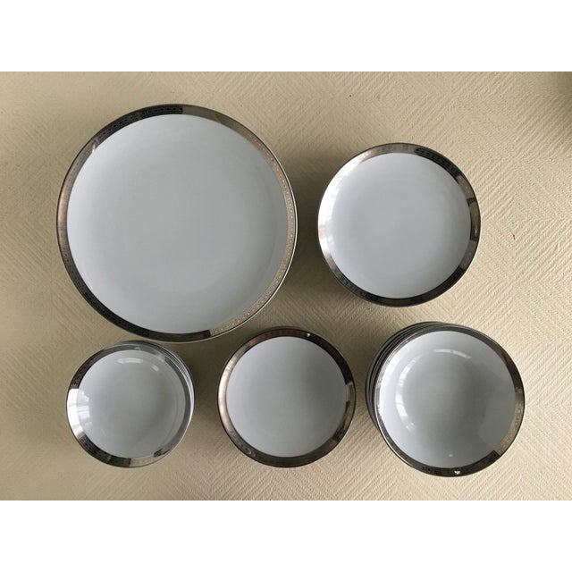 Mid-Century Modern Vintage Mikasa Silver Plated Dinnerware Set With Serving Pieces, Place Settings for 6 - 53 Pieces For Sale - Image 3 of 13