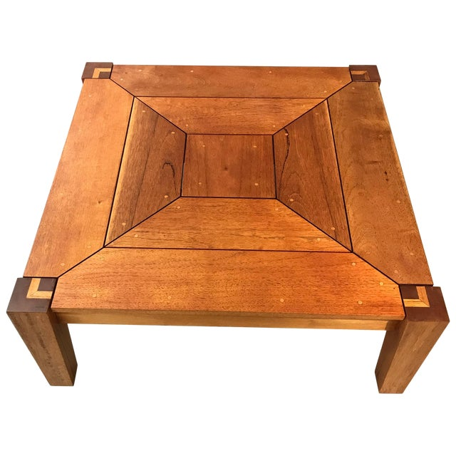 Rob Edley Welborn Prototype Square Coffee Table in Spanish Cedar For Sale