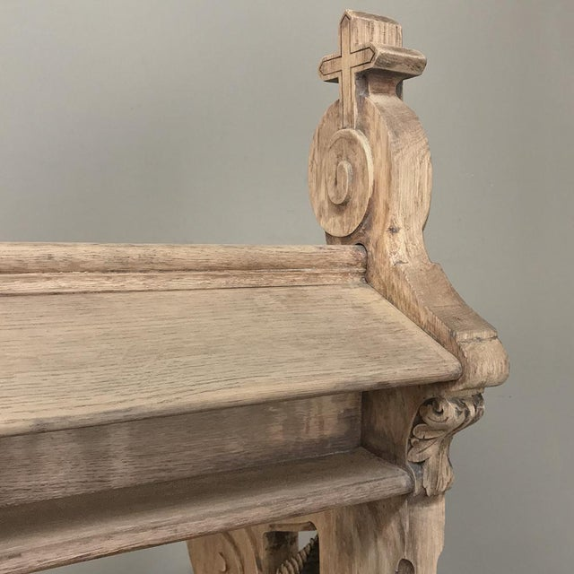 19th Century Gothic Stripped Oak Church Pew For Sale - Image 10 of 13