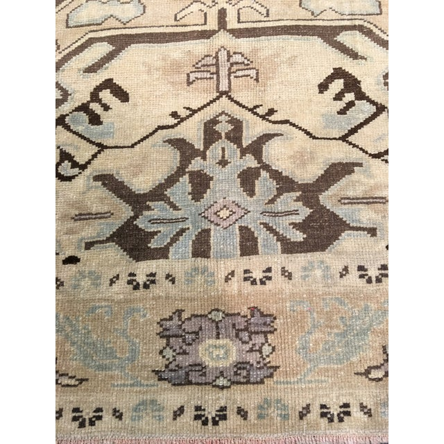 "Bellwether Rugs Vintage Turkish Oushak Rug - 6'x9'5"" - Image 4 of 8"