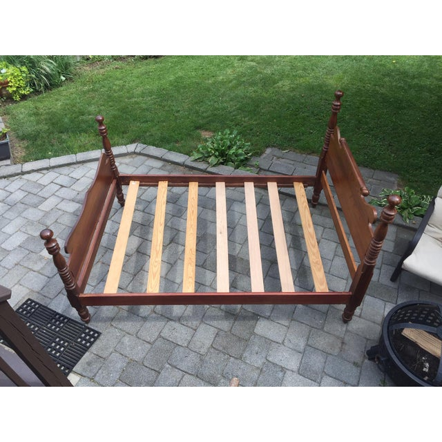 20th Century Full-Size Cherry Bedframe For Sale In New York - Image 6 of 13