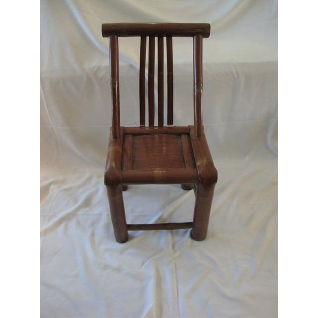 Primitive Bamboo Chairs- A Pair - Image 3 of 8