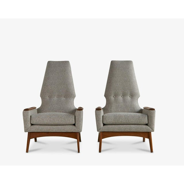 A Pair of Highback Lounge Chairs, 1960s For Sale - Image 10 of 10