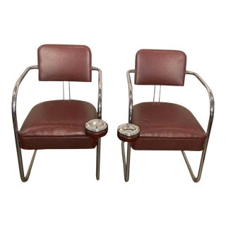 Vintage Mid Century Smoking Chairs- A Pair For Sale