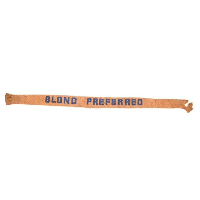 1950s Blond Preferred Felt Flag Banner Felt Flag For Sale - Image 4 of 4