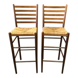 Shaker Style Italian Made Counter Stools - a Pair For Sale