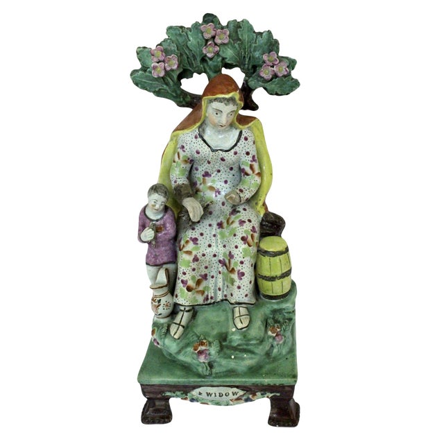"1820s Staffordshire ""Widow"" Figure For Sale"