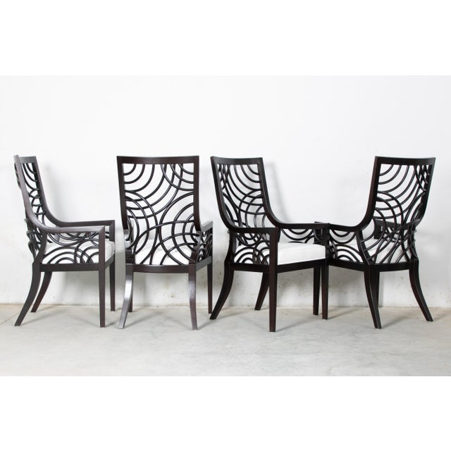 2010s David Francis Manhattan Dining Armchairs- Set of 4 For Sale - Image 5 of 7