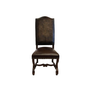 French Traditional Croc Dining Chair For Sale