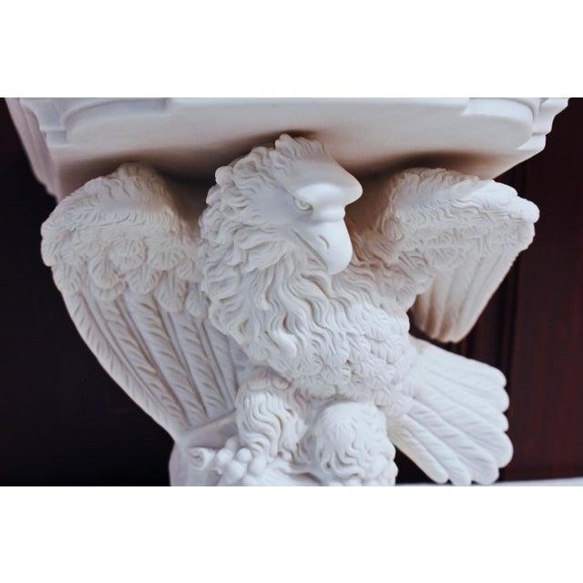 "A mid-19th century parian eagle wall bracket - exquisite details! 7""h., 6 1/2""w., 6 1/4""d."