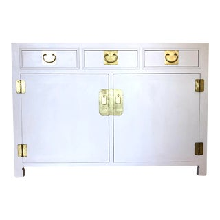 1960's White Credenza by John Stuart For Sale
