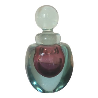 Archimede Seguso Murano Glass Perfume Bottle For Sale