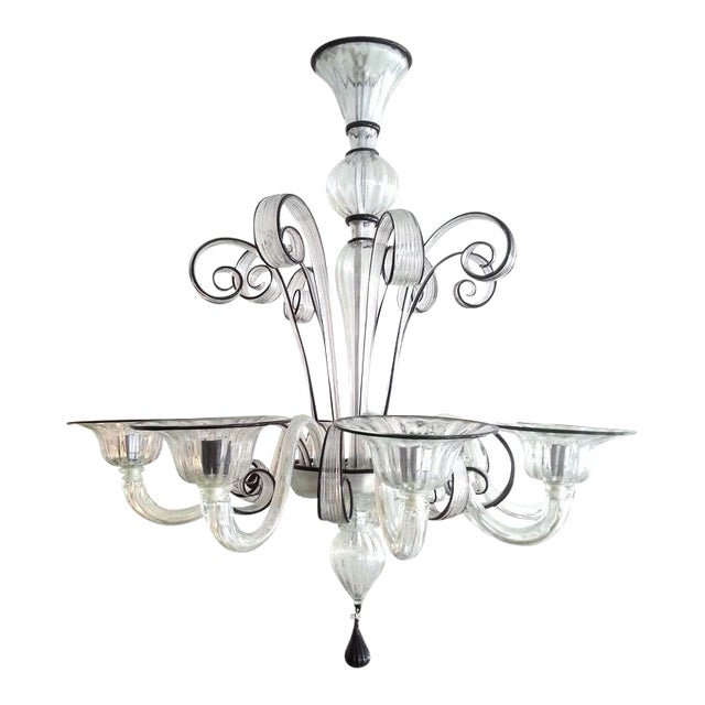 Vintage Murano Louis XV Style Chandelier For Sale