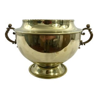 English 19th Century Brass Cache Pot For Sale