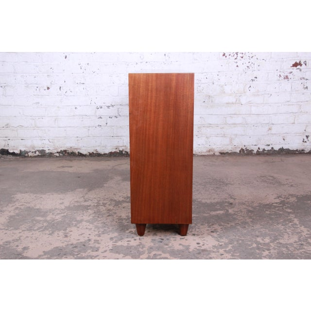 Wood Edward Wormley for Dunbar Mahogany Double Bookcase For Sale - Image 7 of 11