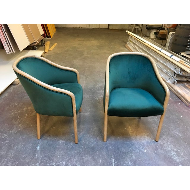 Green 1980s Vintage Ward Bennet Cerused Oak Chairs- A Pair For Sale - Image 8 of 12