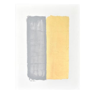 Abstract Gilded Bars Gray 30 40 For Sale
