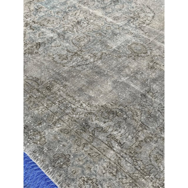 Islamic 1920s Antique Turkish Distressed Rug- 6′1″ × 10′6″ For Sale - Image 3 of 12