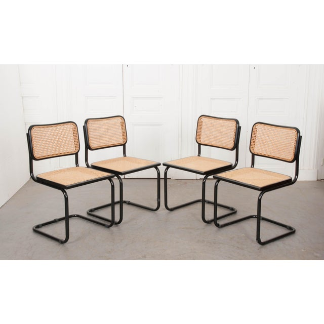 Marcel Breuer Vintage Bauhaus-Style Steel Side Chairs - Set of 4 For Sale - Image 4 of 10