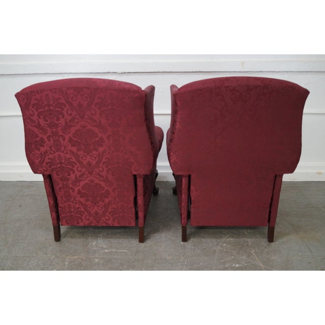 Hancock & Moore Chippendale Wing Chairs - Pair - Image 10 of 10