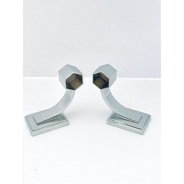 Vintage Faceted Glass and Nickel Towel Holder For Sale - Image 10 of 13