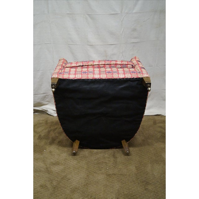 Pink Newerly Upholstered Barrel Back Lounge Chair For Sale - Image 8 of 10