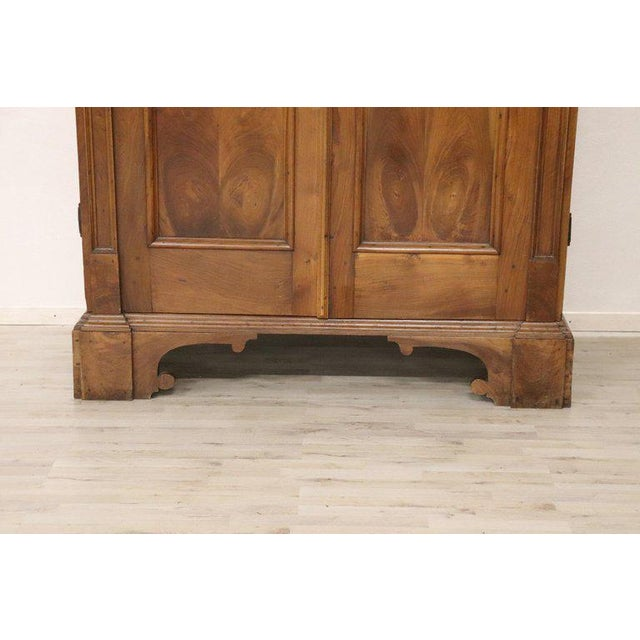 Rare and important antique wardrobe in solid walnut made in the late seventeenth century in the seventeenth century...