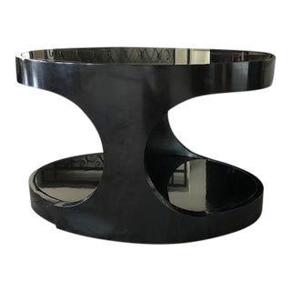 Baker Madraque Black Side Lamp Table