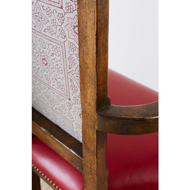 Pair of Dennis Leen Walnut and Leather Bar Stools For Sale - Image 9 of 13