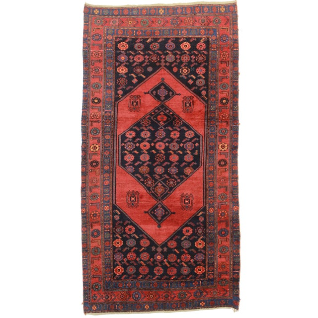 RugsinDallas Antique Persian Bidjar Wool Rug