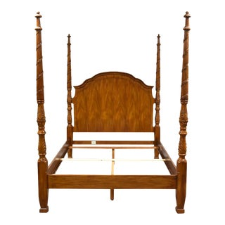 Drexel Heritage Queen Four Poster Bed For Sale