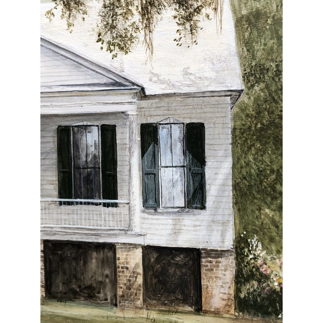 Green Douglas Grier Southern American Architectural Landscape Painting, Framed For Sale - Image 8 of 12