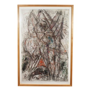 1993 Herbert C. Cassill Signed Mixed Media Aquatint Etching For Sale