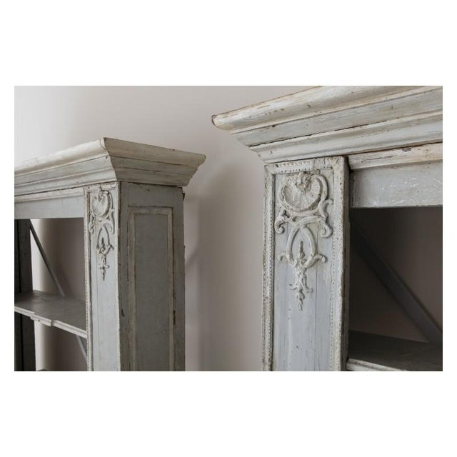Pair of French Louis XV Style Corner Bookcases For Sale - Image 4 of 13