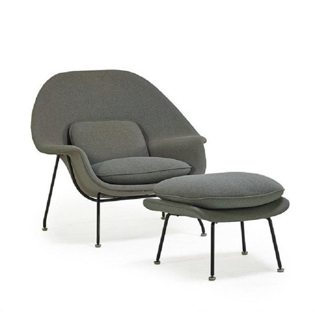 1950s Womb Chair and Ottoman by Eeron Saarinen for Knoll For Sale - Image 5 of 5